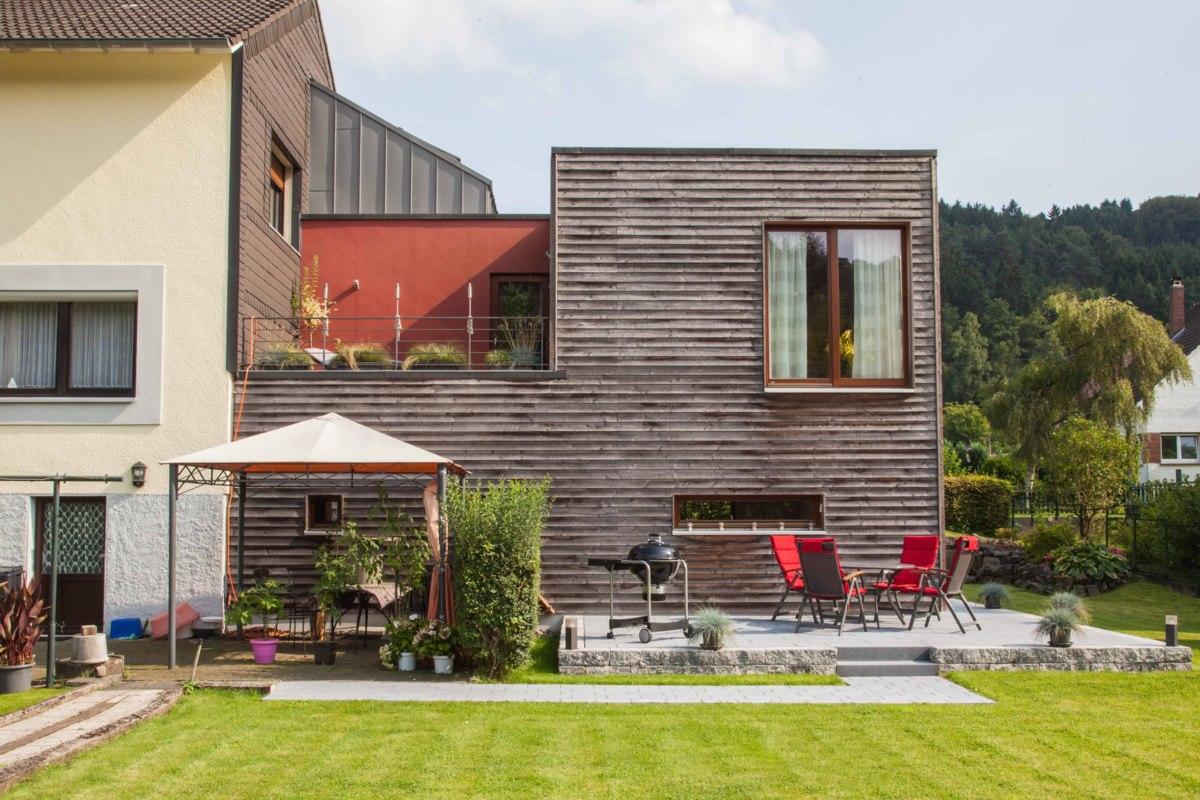 Anbau Holzkiste Modern Terrasse Von Unger Architekten